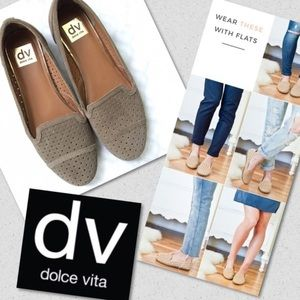 DV Dolce Vita Like New Loafers Tan Perforated 6